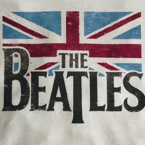 THE BEATLES GRAPHIC Band Tee Creme Music T-Shirt